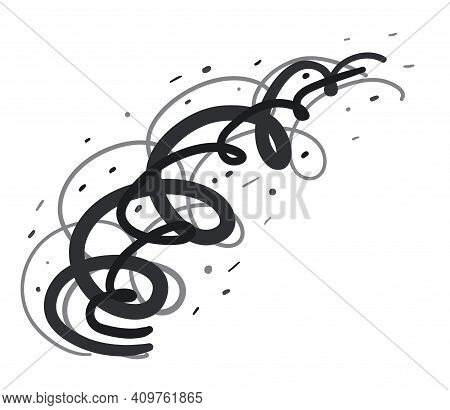 Swirls. Strong Wind With Mud, Hurricane. Vector Illustration