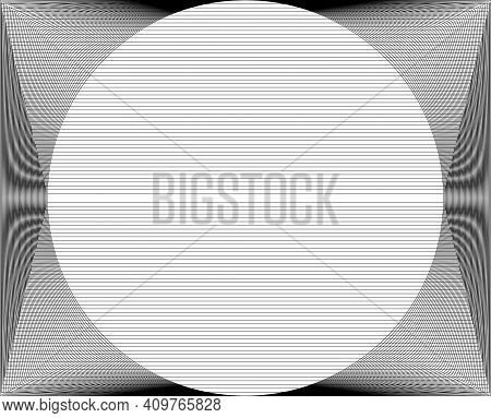 Black And White Abstract Striped Textured Geometric Pattern. Vector.
