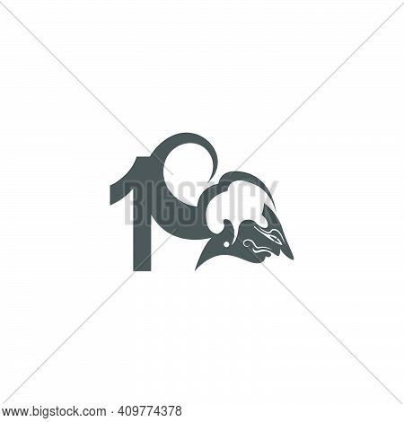 Javanese Puppet Icon With Number Logo Design Vector Illustration