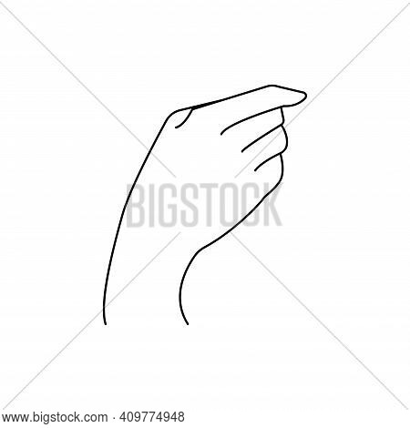 Chiromancy Chart Of The Palms Lines And Ways. Vector Line Illustration