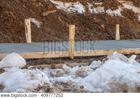 Concrete Pavement Cement Site Street Work Home