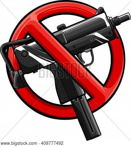 Vector Illustration No Guns Or Firearms Allowed