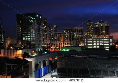 Downtown Orlando At Night