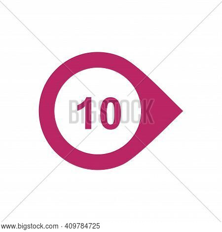 Number  Ten 10 Logo Icon Design Template Elements.
