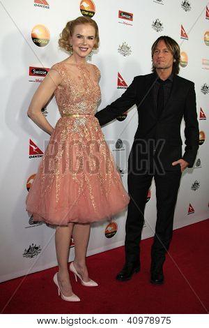 LOS ANGELES - JAN 12: Nicole Kidman, Keith Urban at the 2013 G'Day USA Los Angeles Black Tie Gala at JW Marriott on January 12, 2013 in Los Angeles, California