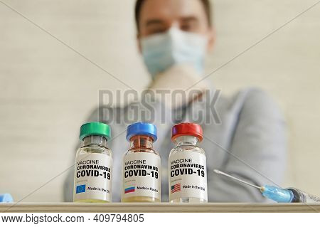 Choosing The Best Vaccine For Vaccination Made In Usa Or The Eu. The Medical Conception Of Combating