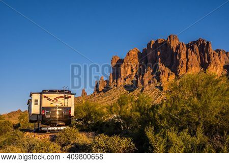 An Awe Inspiring Landscape From Lost Dutchman Sp, Arizona
