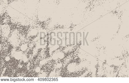 Vector Abstract Ink Drawing, Graphite Strokes And Prints On A Beige Background
