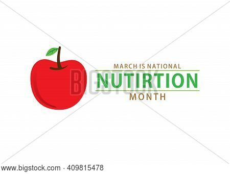 Vector Illustration Of National Nutrition Month Concept Design