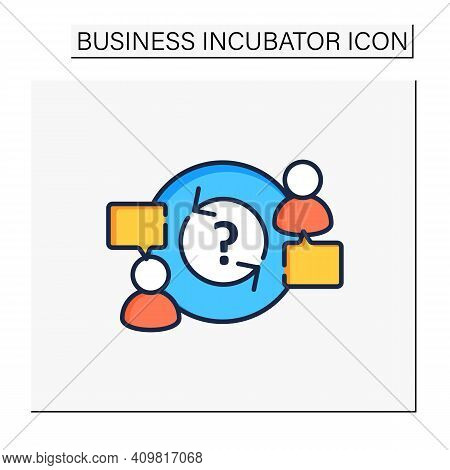 Advisory Color Icon. Provide Advice And Support To Owners, Directors, Employees. Lucrative Business