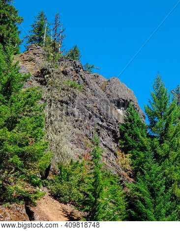 Elephant Eye Rock - A Mountain Rock Formation Along Straight Creek Road - Cascade Range - Near Mario