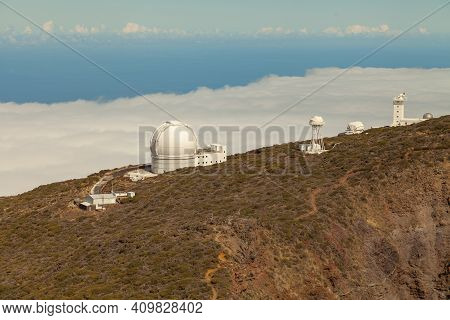 La Palma, Spain - November 1, 2016: Overview Of Some Of The Telescopes At The Roque De Los Muchachos