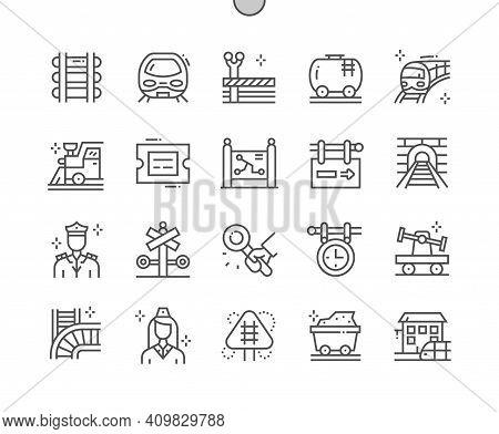 Railway. Signs At Railway Station. Train And Locomotive. Direction, Way, Vehicle, Railroad, Transpor