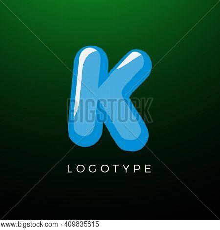 3d Playful Letter K, Kids And Joy Style Symbol For School, Preschool, Comic Book, Kids Zone Decorati