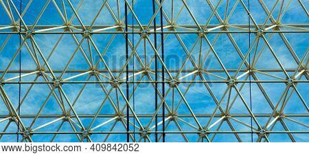 metal grille and window industrial hangar