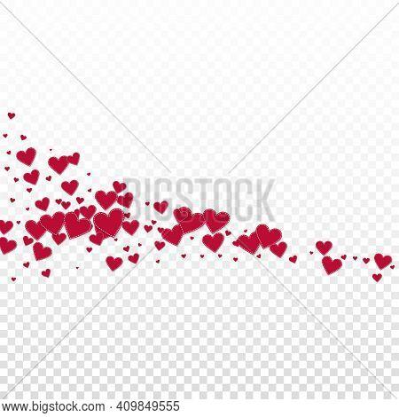 Red Heart Love Confettis. Valentine's Day Comet Di