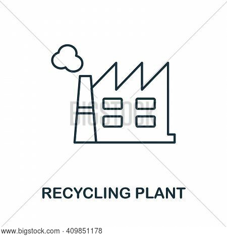 Recycling Plant Icon. Simple Illustration From Recycling Collection. Creative Recycling Plant Icon F