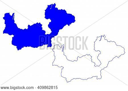 Sondrio Province (italy, Italian Republic, Lombardy Region) Map Vector Illustration, Scribble Sketch