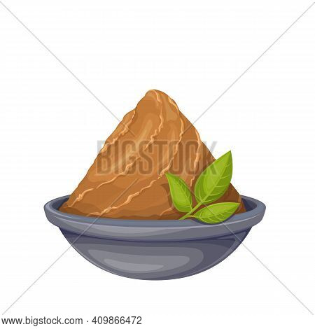 Miso Paste In Bowl Vector Icon. Japanese Food Miso Illustration.