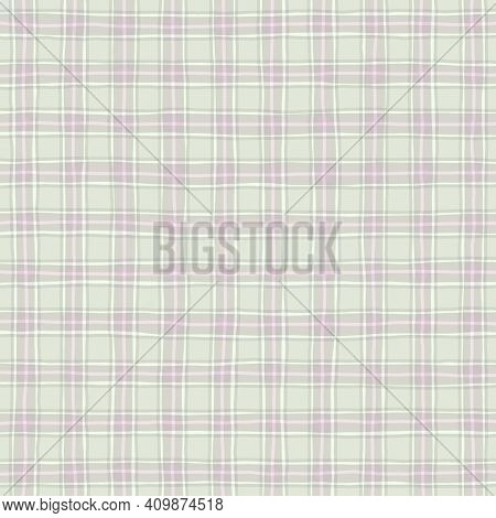 Gray Green Lilac Pink Vintage Checkered Background. Space For Graphic Design. Checkered Texture. Cla