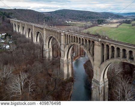 Lackawanna Railroad Viaduct Aerial