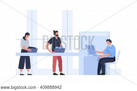 Security Control At Airport, Checking Things Scanner. Vector Airport Security Control, Luggage And B