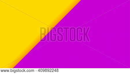 Yellow Purple Color For Banner Background, Two Tone Opposite Colors, Purple And Yellow Paper Backgro