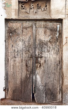 Old Dilapidated Wooden Door.