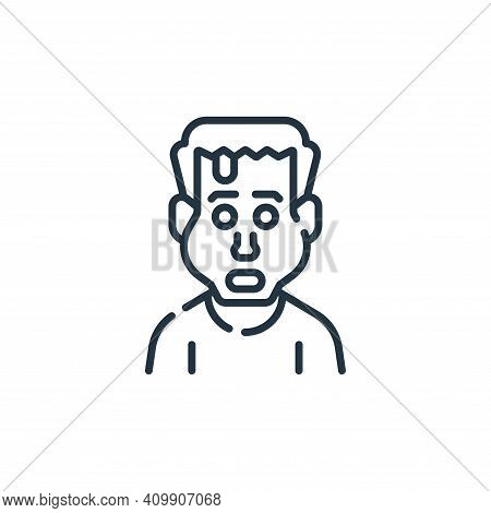 zombie icon isolated on white background from fantastic characters collection. zombie icon thin line
