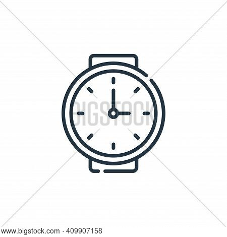 wristwatch icon isolated on white background from calendar and date collection. wristwatch icon thin