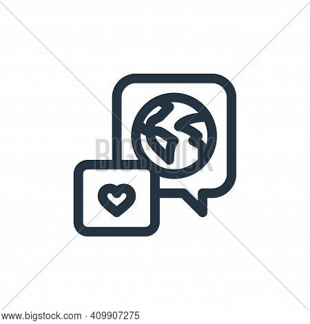 world icon isolated on white background from world love collection. world icon thin line outline lin