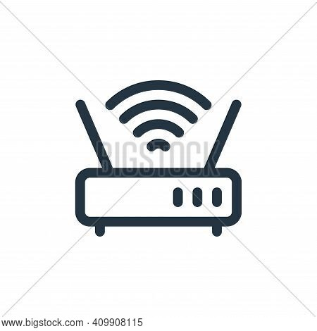 wifi router icon isolated on white background from communication and media collection. wifi router i