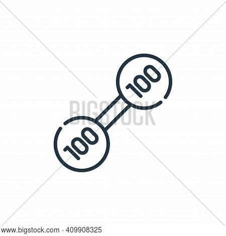 weight icon isolated on white background from circus collection. weight icon thin line outline linea