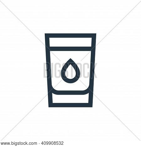 water icon isolated on white background from nutrition collection. water icon thin line outline line