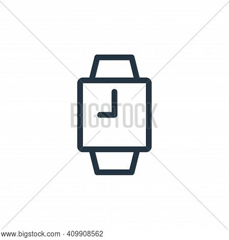 watches icon isolated on white background from fashion collection. watches icon thin line outline li