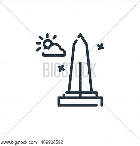 washington monument icon isolated on white background from world monument collection. washington mon