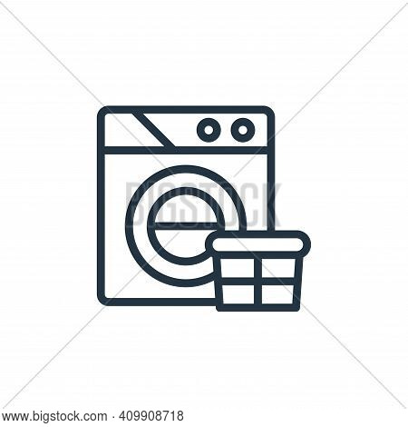 wash icon isolated on white background from stay at home collection. wash icon thin line outline lin