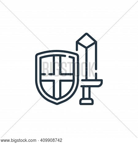 warrior icon isolated on white background from england collection. warrior icon thin line outline li