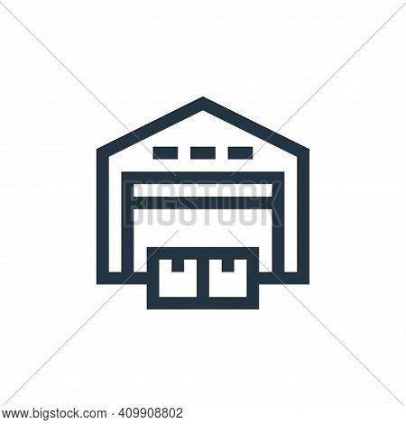 warehouse icon isolated on white background from industrial process collection. warehouse icon thin