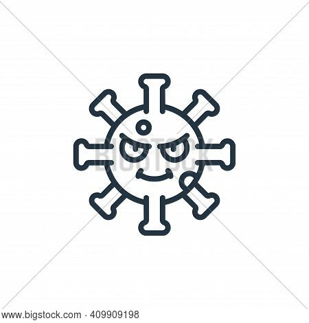 virus icon isolated on white background from self isolation collection. virus icon thin line outline