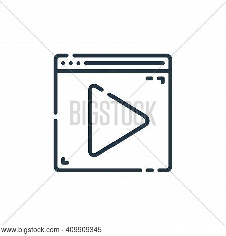 video player icon isolated on white background from user interface collection. video player icon thi