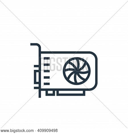 vga card icon isolated on white background from hardware collection. vga card icon thin line outline