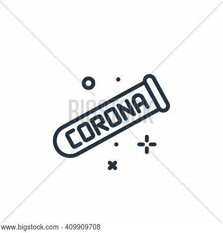 vaccine icon isolated on white background from coronavirus collection. vaccine icon thin line outlin