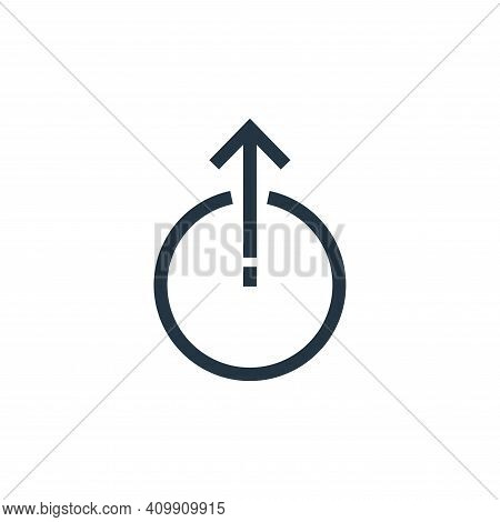 uploading icon isolated on white background from arrows collection. uploading icon thin line outline