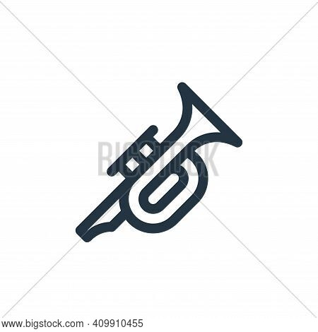 trumpet icon isolated on white background from cinco de mayo collection. trumpet icon thin line outl