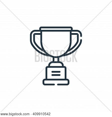 trophy icon isolated on white background from baseball collection. trophy icon thin line outline lin