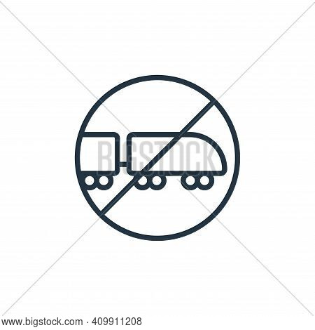 train icon isolated on white background from stop virus collection. train icon thin line outline lin