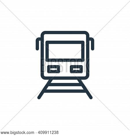 train icon isolated on white background from holiday collection. train icon thin line outline linear