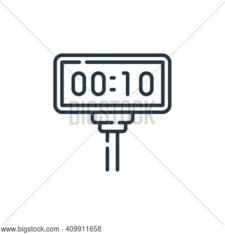 timer icon isolated on white background from auto racing collection. timer icon thin line outline li