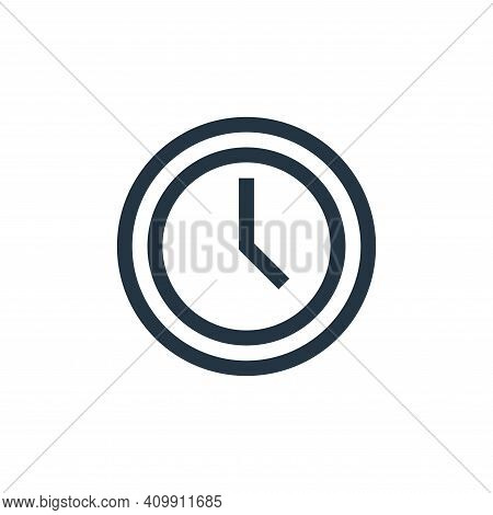 time icon isolated on white background from web essentials collection. time icon thin line outline l
